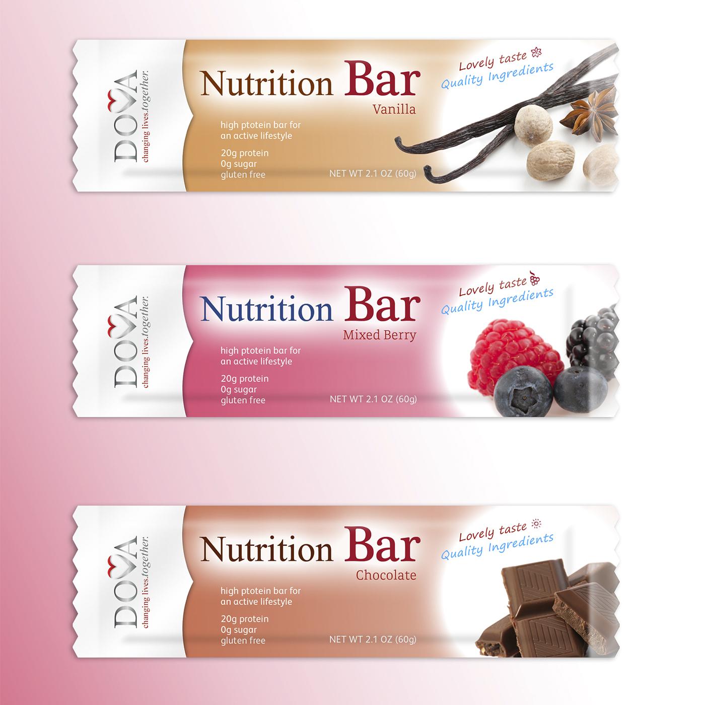 Вкусный дизайн для вкусных Nutrition Bar.