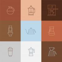 Для хорошего кофе мы нарисовали хорошие иконки.