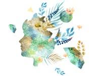 Серия акварельных иллюстраций-коллажей