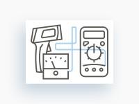 Набор линейных иконок для интернет магазина РадиоМаркет