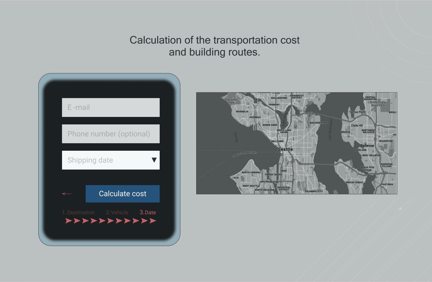 Дизайн сайта - автоперевозка авто в США -car hauling фото f_6156091d2e3870e5.jpg