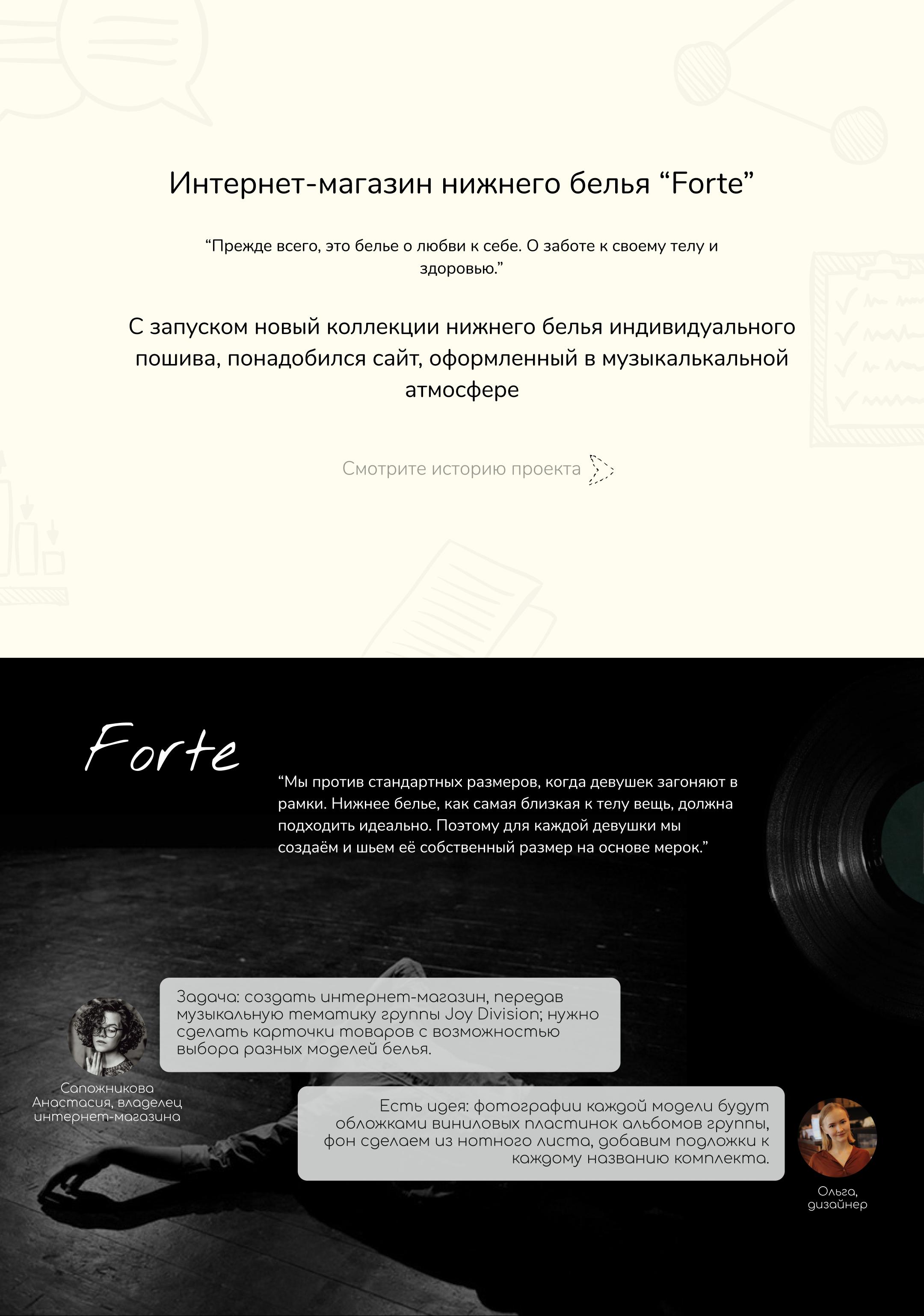 """Интернет-магазин нижнего белья """"Forte"""""""