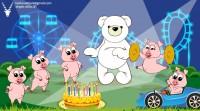 """🎁  интерактивная открытка """"Happy Birthday!"""" Кликните по свинкам)"""