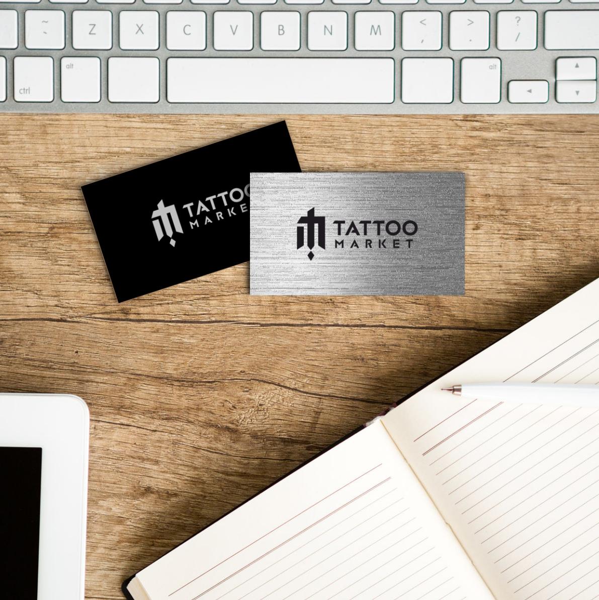 Редизайн логотипа магазина тату оборудования TattooMarket.ru фото f_7395c48b819219c9.png
