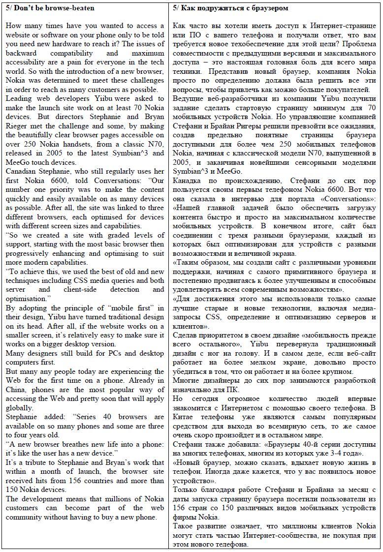 Eng --> Rus перевод по тематике телеком.