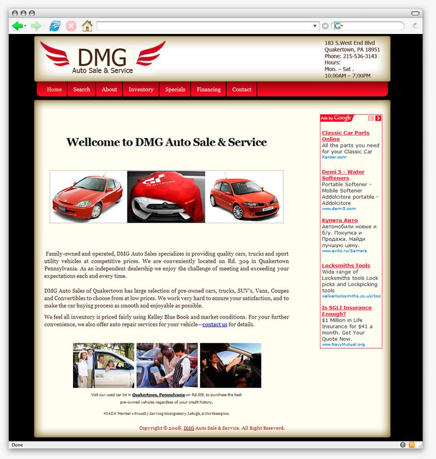 DMG auto sales