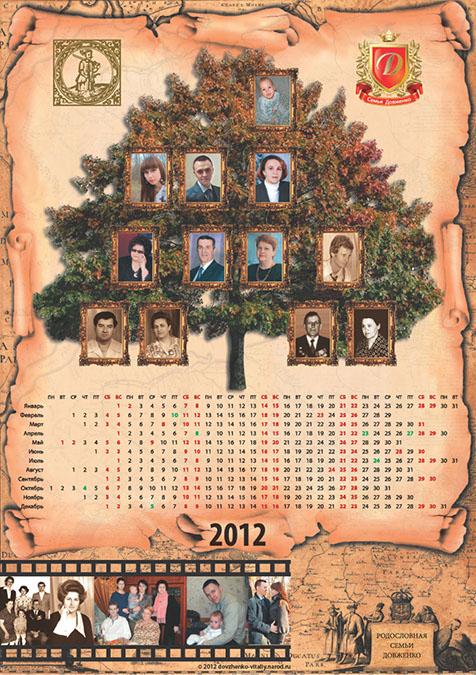 Календарь «Родословная», 2012 г.