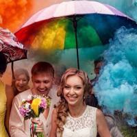 Дизайн сайта - Цветной дым для фотосессий