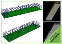 Расчет пространственного каркаса с учетом фундаментной плиты. Производственное помещение