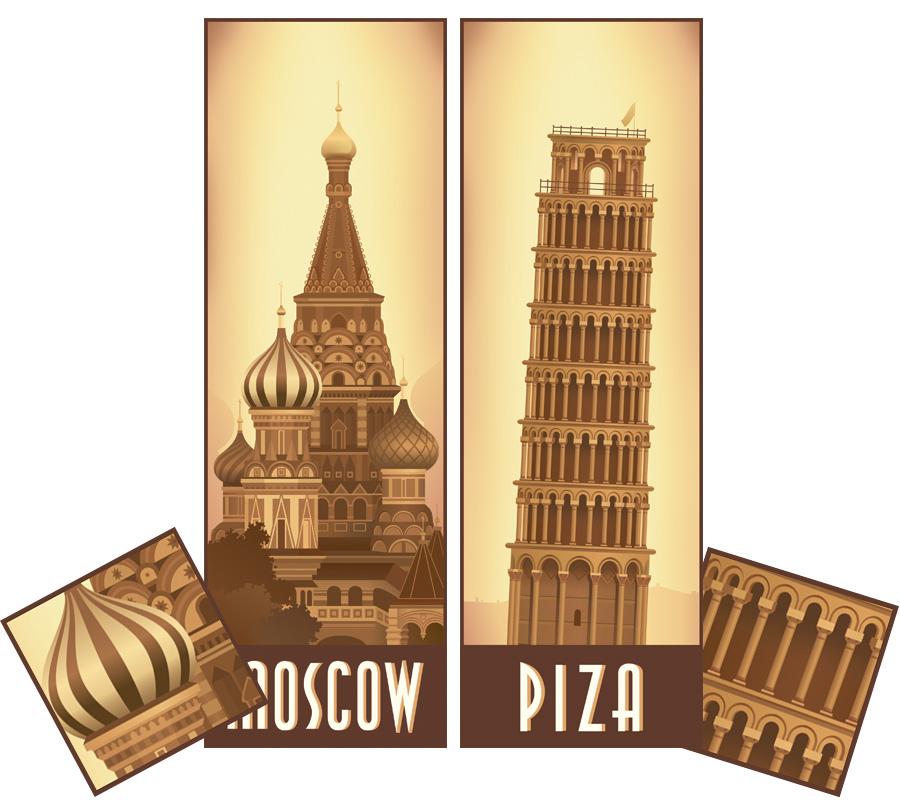 Собор В.Блаженного и Пизанская башня