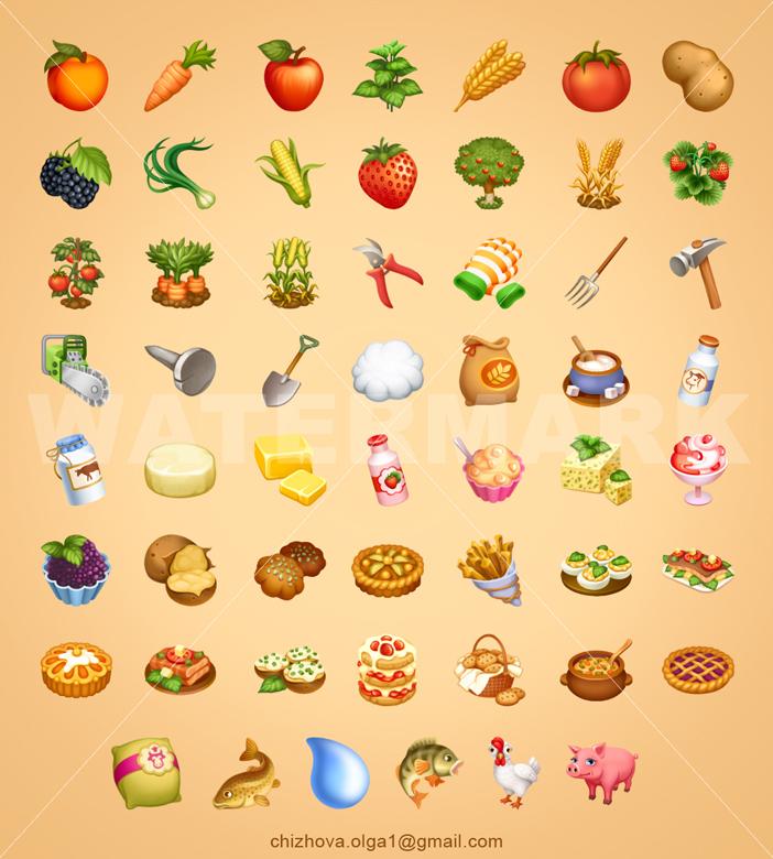 Набор иконок для игры