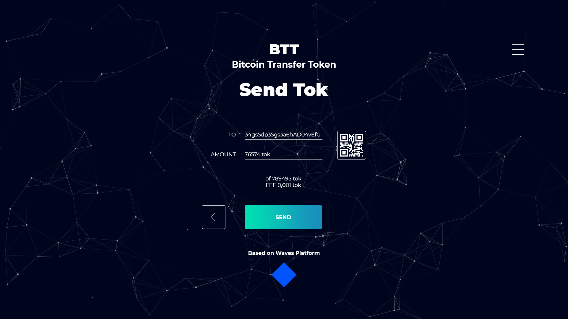 BITCOIN TRANSFER TOKEN