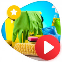 Креативный ролик для рекламы в ютуб Клининг