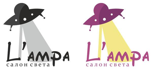 Логотип магазина света «L'ampa»