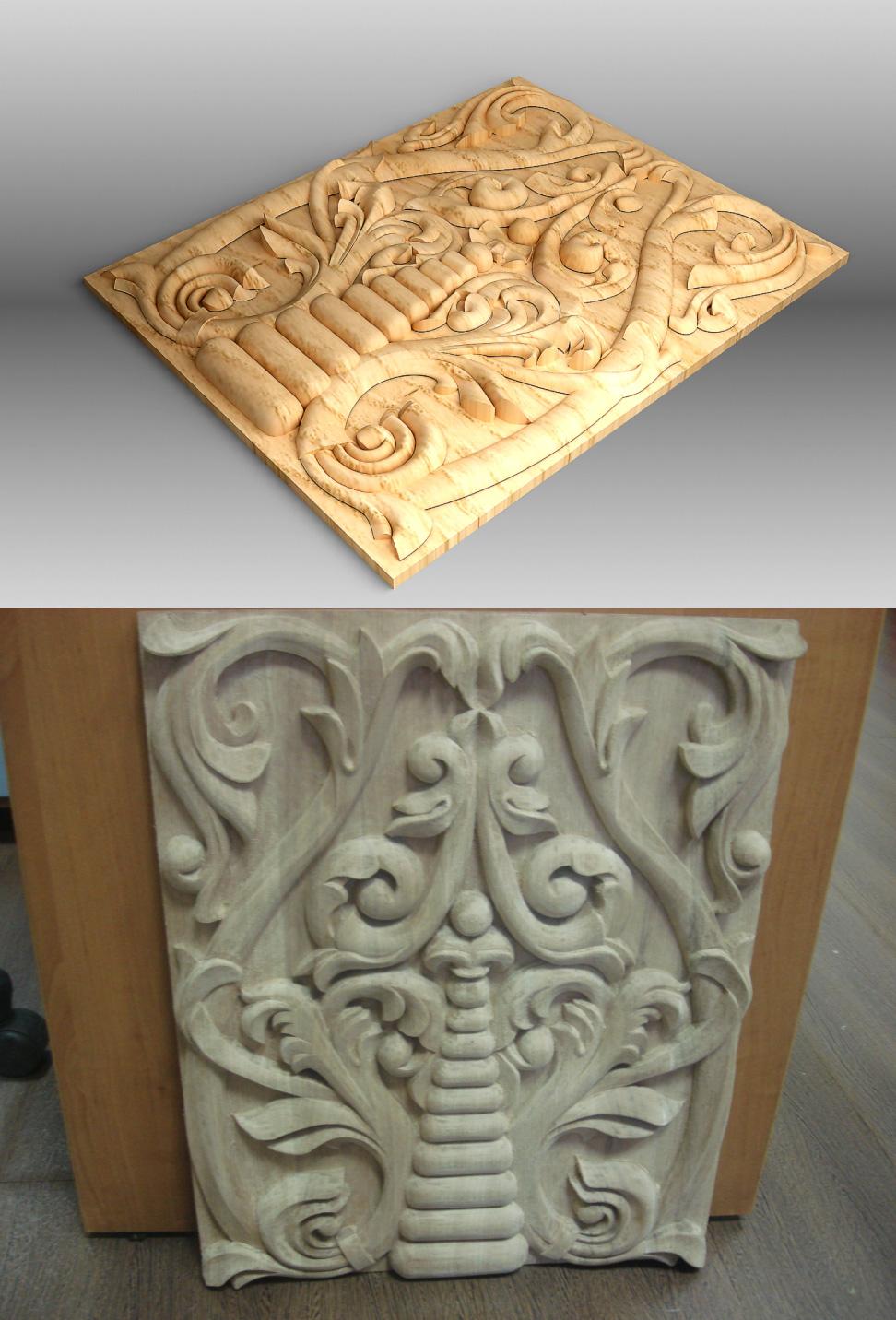моделирование трехмерной модели деревянной резьбы