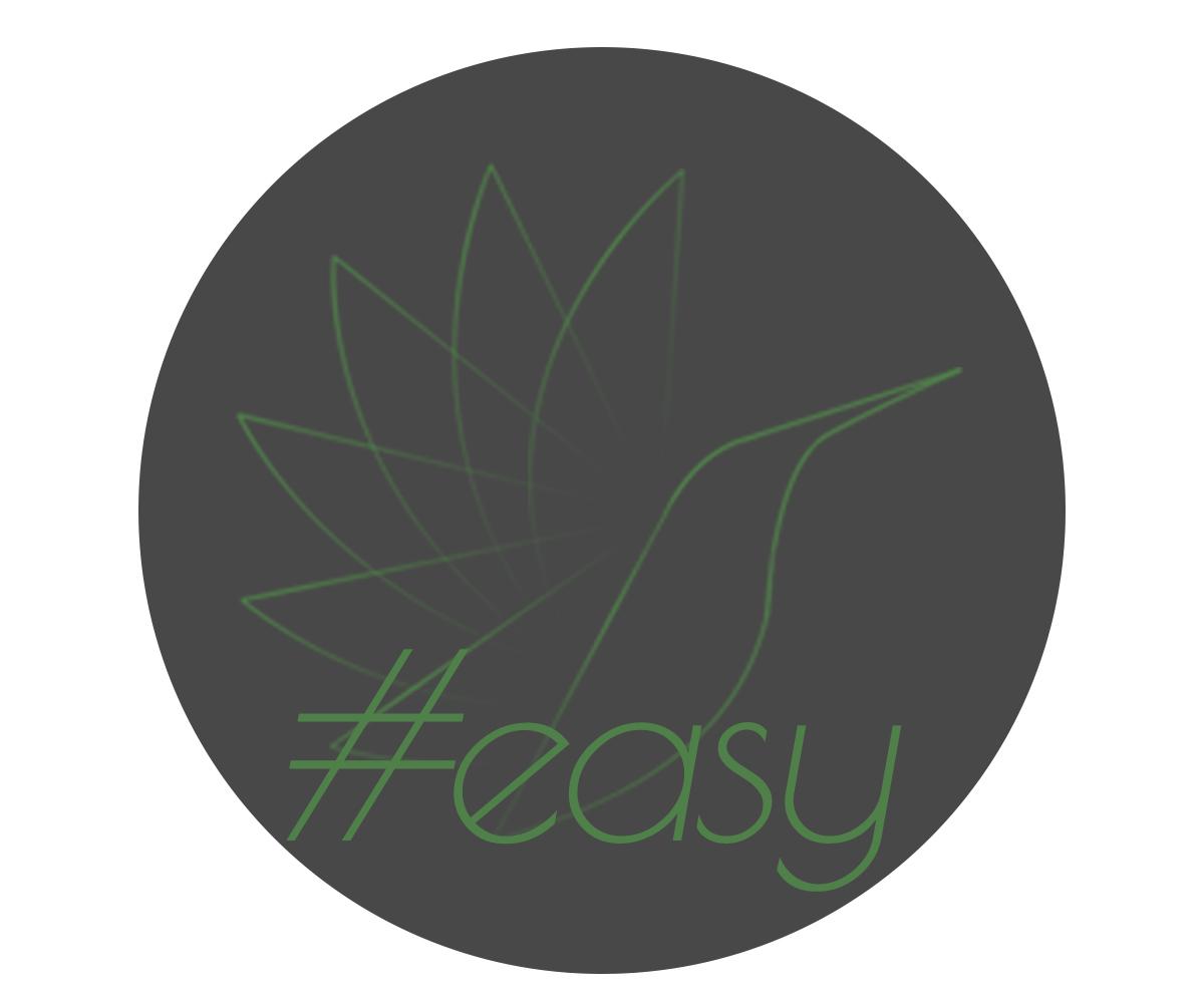 Разработка логотипа в виде хэштега #easy с зеленой колибри  фото f_8025d5204892f324.jpg