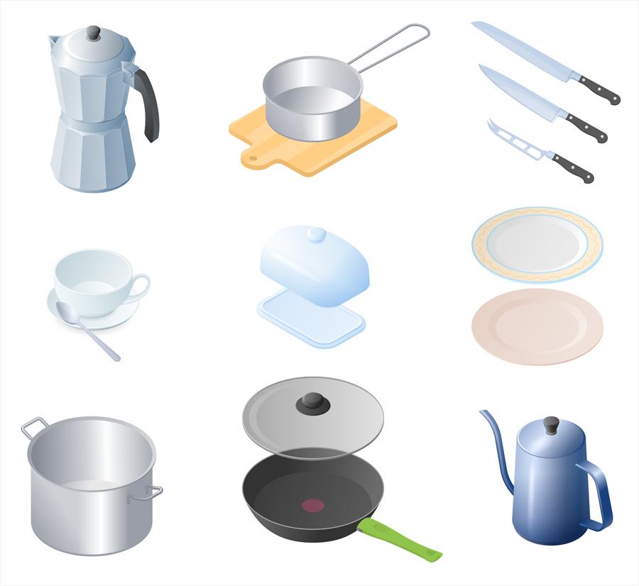 Изометрия: офис и кухня