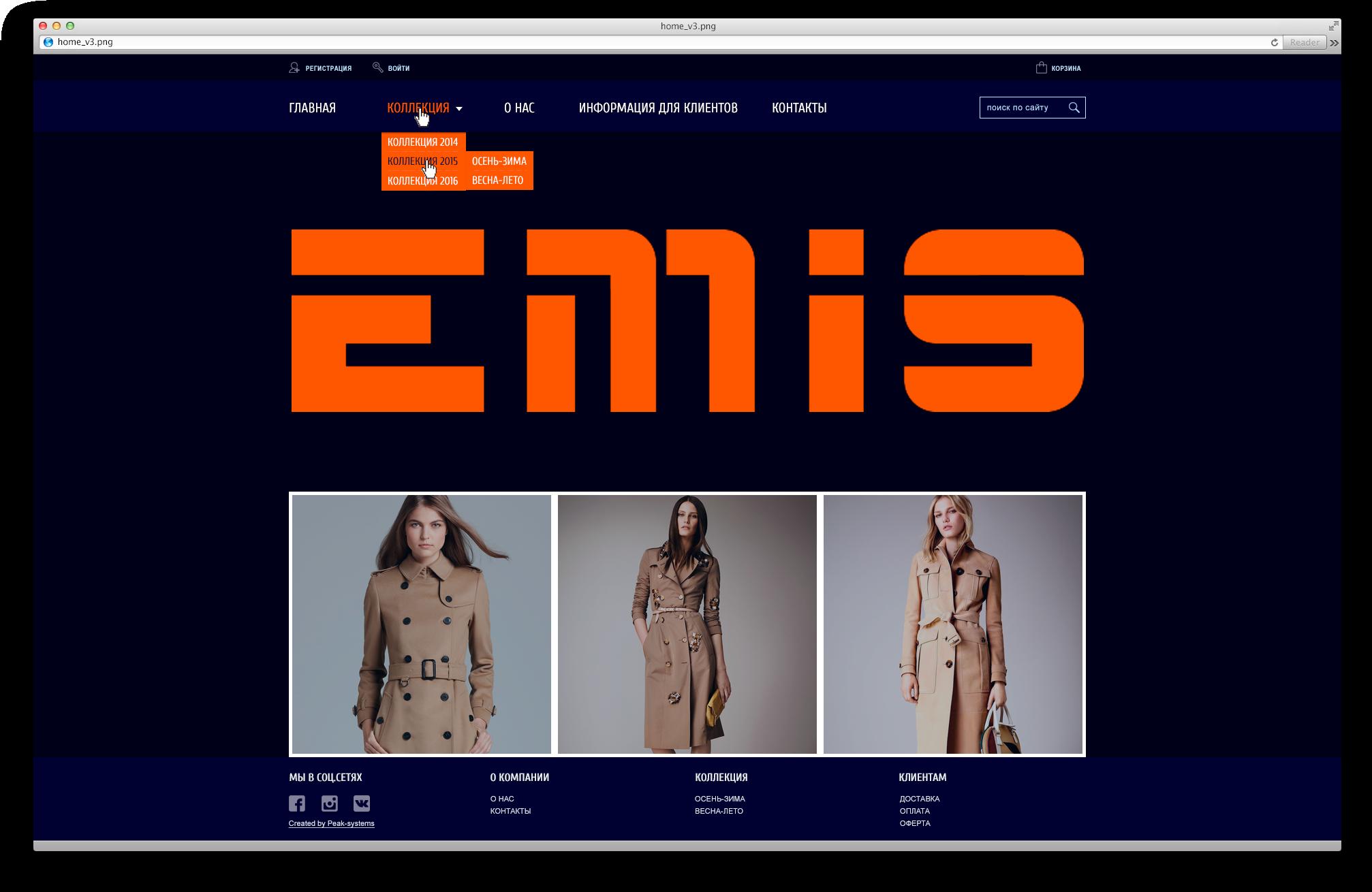 """Создание адаптивного интернет-магазина верхней одежды """"под ключ"""""""