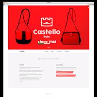 Landing page магазина итальянских сумок Castello