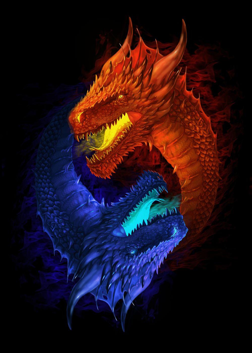 Драконы принт