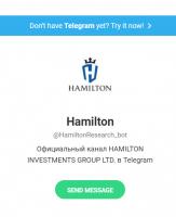 Telegram и Viber боты для крупного Форекс брокера hamiltonbot.club