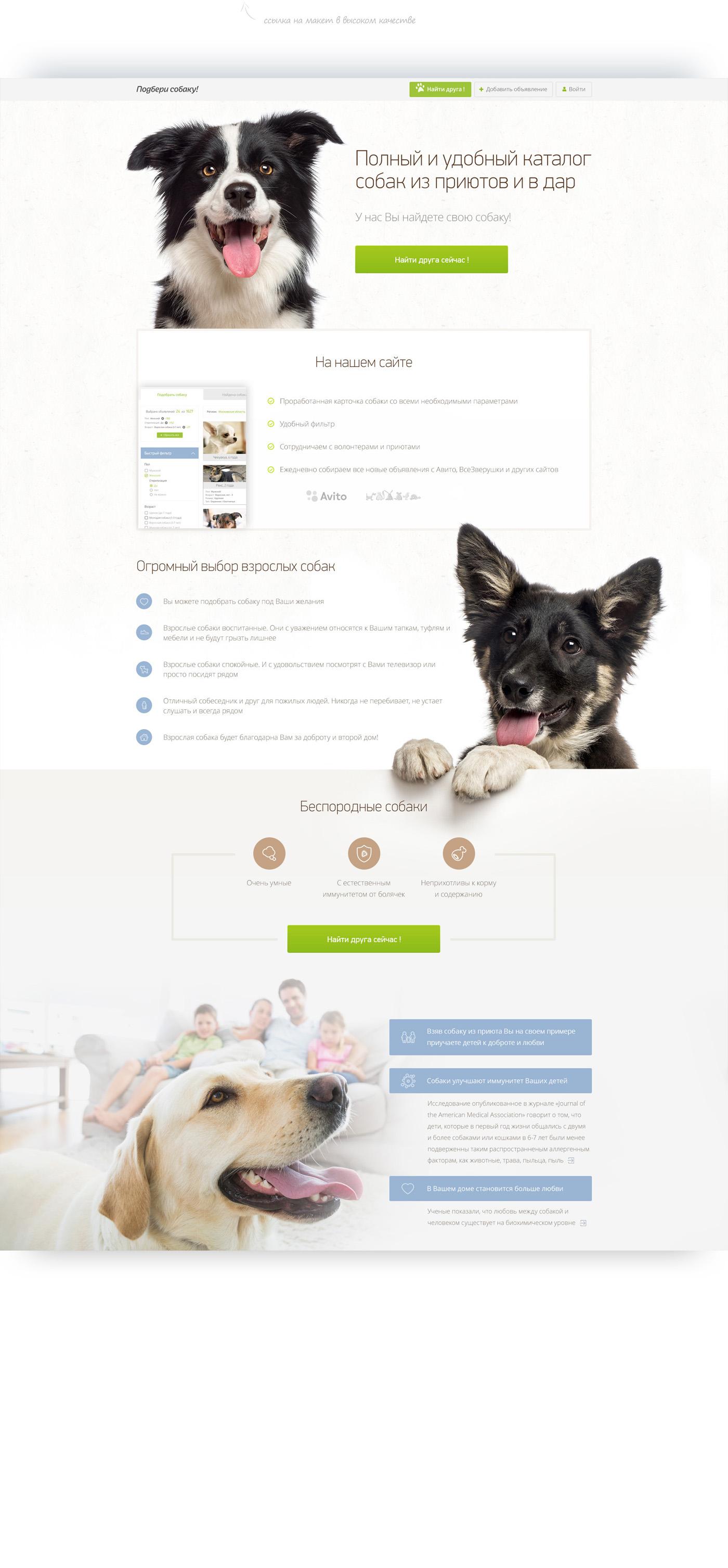 Сервис «Подбери собаку!»