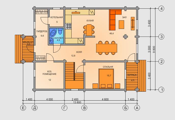 Планировка дома 1