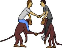 Человек и обезьяна 6