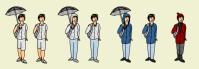 Иконки-персонажи для прогноза погоды 2