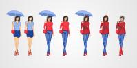 Иконки-персонажи для сайта прогноза погоды