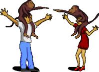 Человек и обезьяна 1