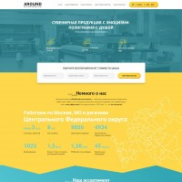 Landing page+WordPress – Рекламное агентство AROUND