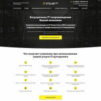 Landing page+WordPress – IT cопровождение