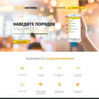Лендинг+WordPress - 1С: Документооборот