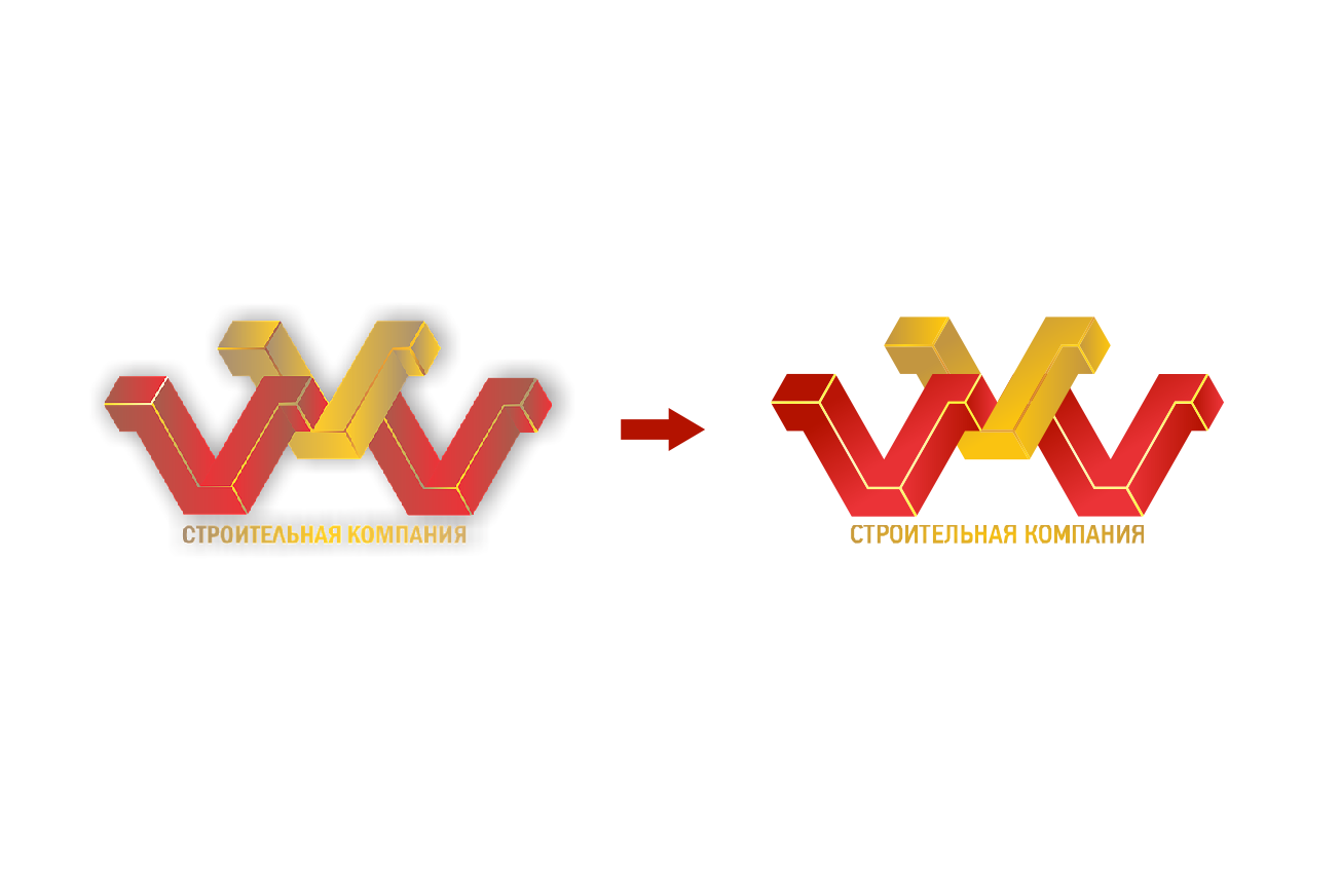 Отрисовка логотипа из растра в вектор