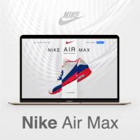 Сайт и дизайн кроссовок Nike Air Max (design by Artem Нabarov)