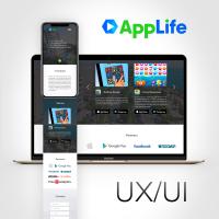 Сайт AppLife - Desktop + mobile + tablet