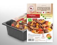 """Этикетка """"Гурманов"""" (говядина в устричном соусе)"""