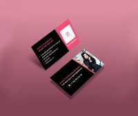 пластиковая визитка мастера