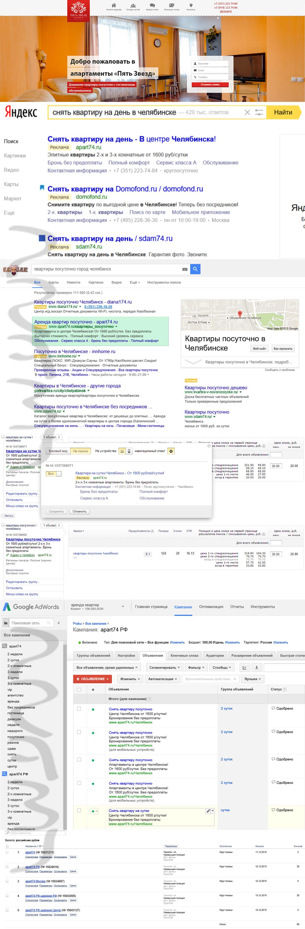 Google Ads и Яндекс Директ | Весь мир | Аренда квартир в Челябинске | Аренда жилья