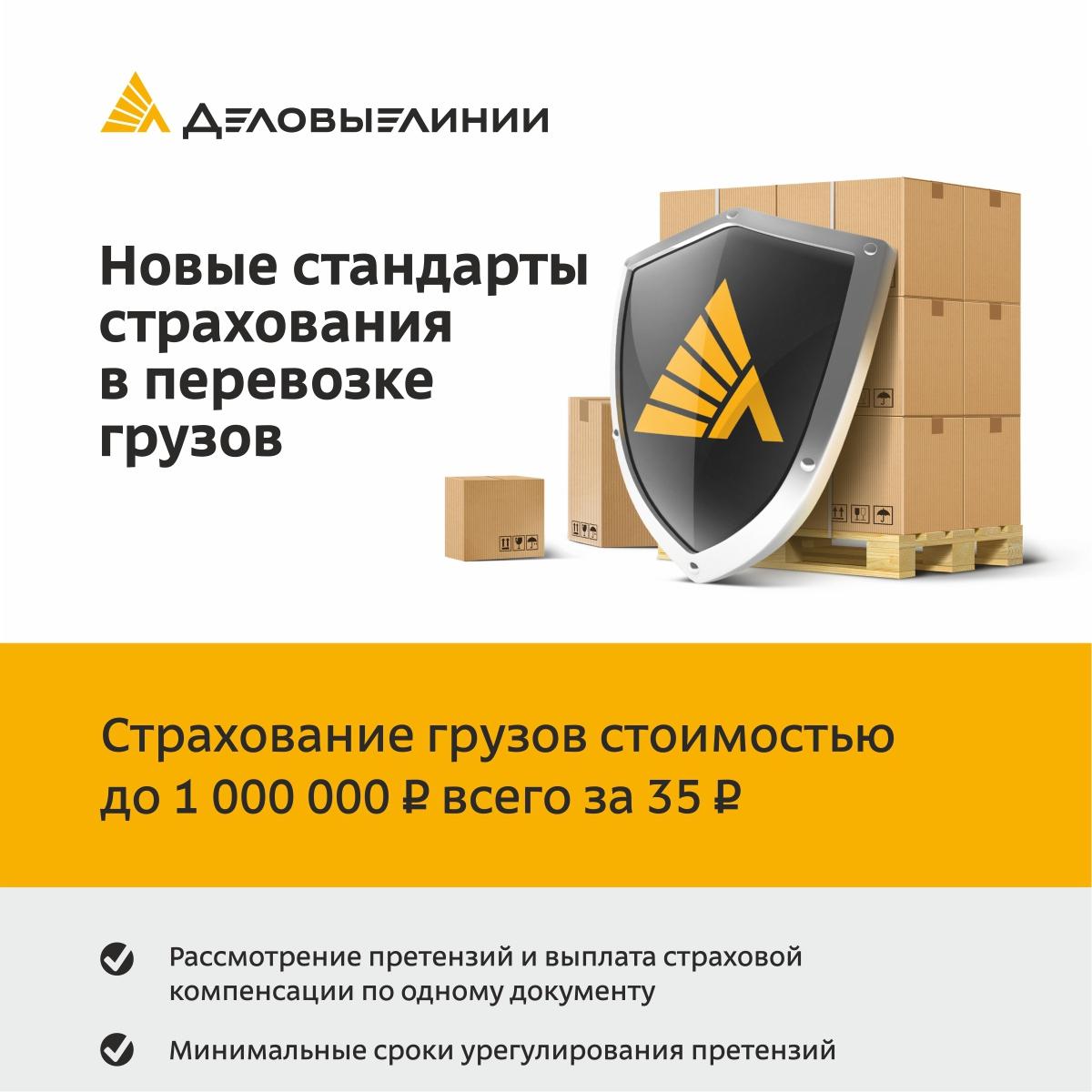 Листовка Деловые Линии «Новые стандарты страхования в перевозке грузов»