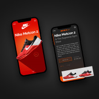 Дизайн приложения nike