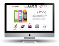 Дизайн сайта macProfi