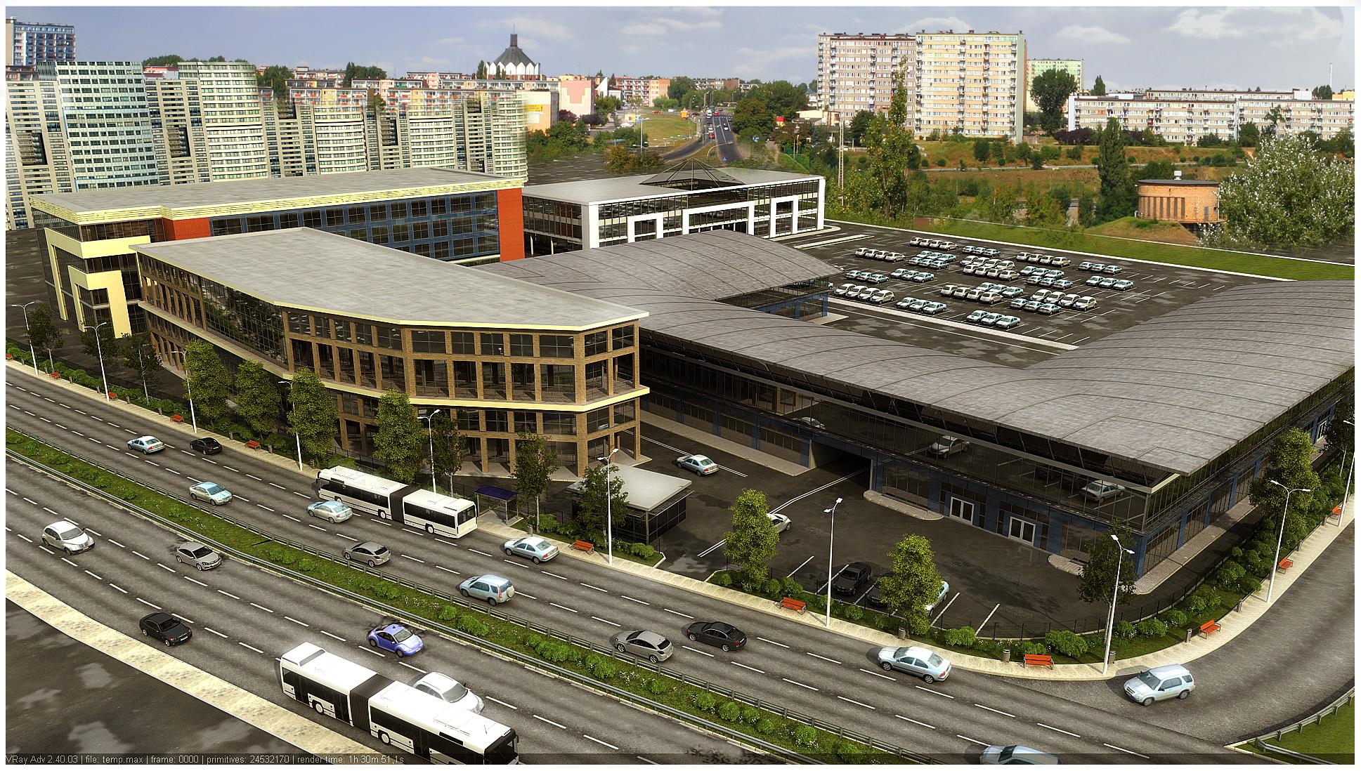 Комплекс из трех зданий