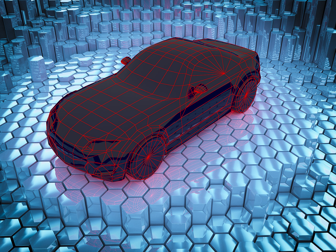 Лоу-поли модель Mazda MX-5 Miata