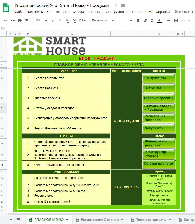 Система Управленческого учёта для Строительной компании