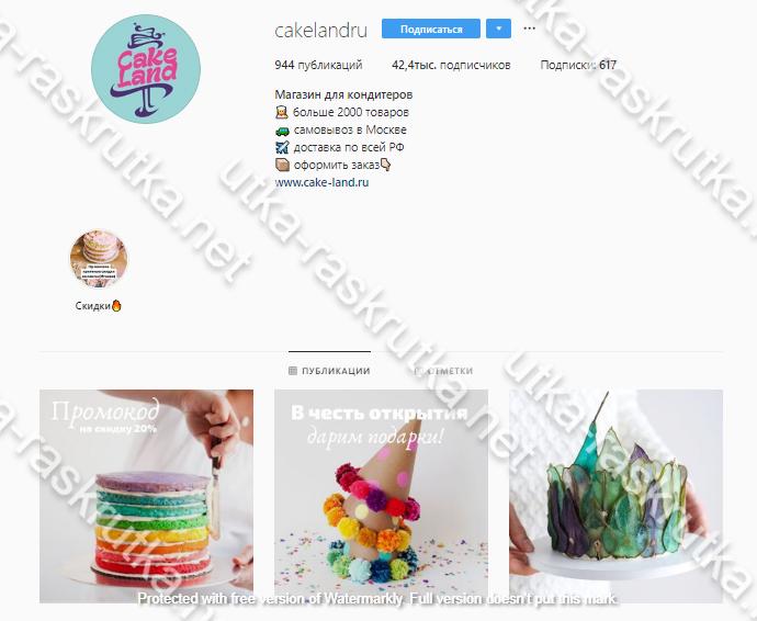 CakeLand.ru: продвижение магазина товаров для кондитеров