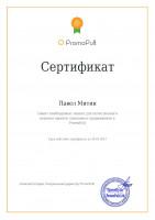 Сертификат promopult.ru