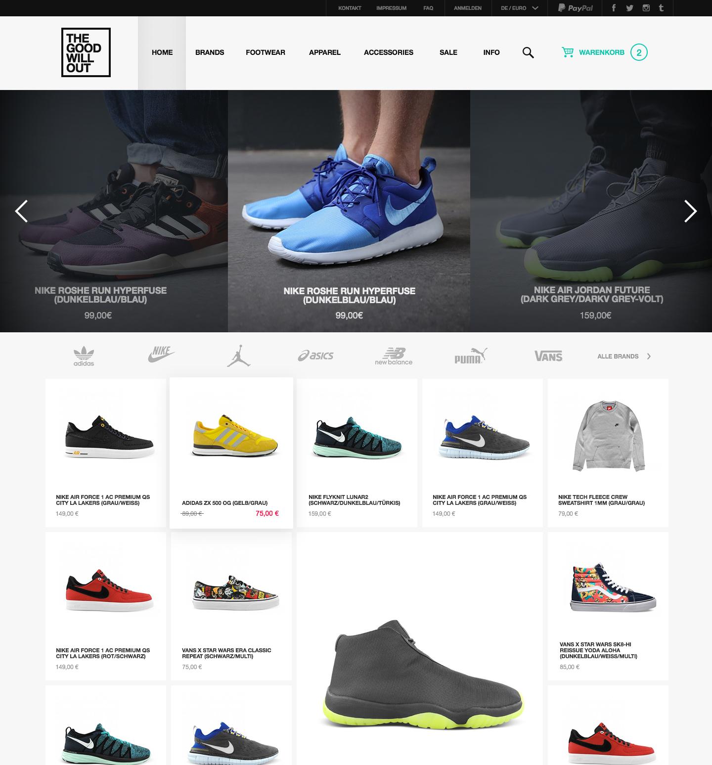 Интернет-магазин обуви THE GOOD WILL OUT (г. Кёльн, Германия)