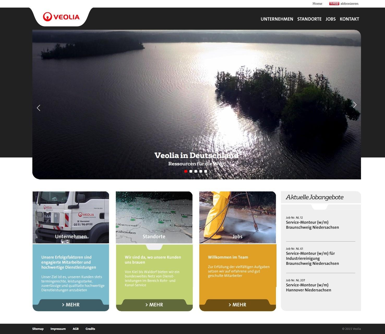 Верстка сайта немецкой компании